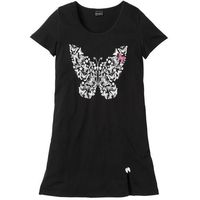 Koszula nocna bonprix czarny z nadrukiem, kolor czarny