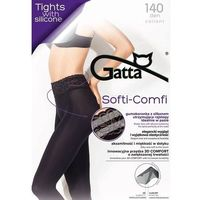 Rajstopy Gatta Softi-Comfi 140 den 4-L, czarny/nero, Gatta, kolor czarny