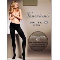 Rajstopy beauty 3d 60 den rozmiar: 2-s, kolor: czarny/nero, veneziana marki Veneziana