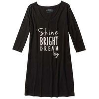 Koszula nocna czarno-biały z nadrukiem, Bonprix, S-XXXXL