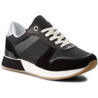 Sneakersy TOMMY HILFIGER - Mixed Material Lifestyle Sneaker FW0FW03011 Black 990