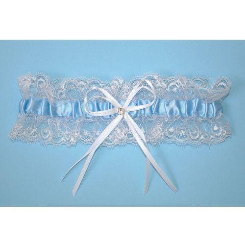 Podwiązka Julimex PW 27 Praga ROZMIAR: uniwersalny, KOLOR: błękitno-biały, Julimex, kolor niebieski