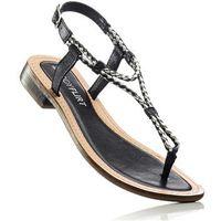 Bonprix Sandały skórzane czarny