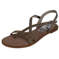 sandały z rzemykami brąz marki Tom tailor