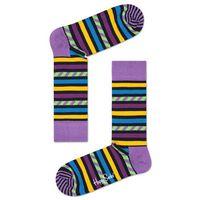 Happy Socks Stripe & Stripe Socks Fioletowy Wielokolorowy 36-40