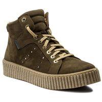 Sneakersy NESSI - 17302/N Khaki 9, kolor zielony
