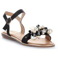 Gatisa Oryginalne sandały damskie z koralikami czarne