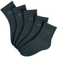 Krótkie skarpetki h.i.s (5 par) czarny marki Bonprix