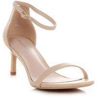 Klasyczne sandały damskie na szpilce renomowanej marki beżowe (kolory), Ideal shoes