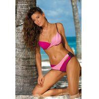 Marko Kostium kąpielowy model christina vigneto-hollywood-clematis m-348 bakłażan/pink