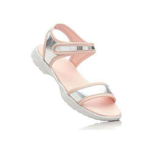 Sandały bonprix srebrno-jasnoróżowy