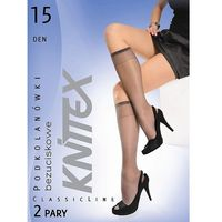 Podkolanówki Knittex 15 den A'2 uniwersalny, szary/perla. Knittex, uniwersalny, kolor szary