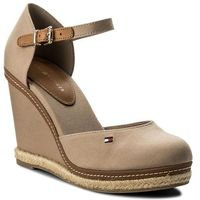 Espadryle - iconic basic closed toe wedge fw0fw02791 cobblestone 068 marki Tommy hilfiger