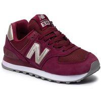 Sneakersy NEW BALANCE - WL574WNL Bordowy