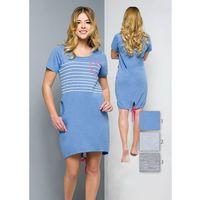 Koszula Regina 309 kr/r S-XL S, szary jasny melange, Regina, kolor szary