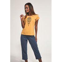 Bawełniana piżama damska 670/169 dream żółta marki Cornette