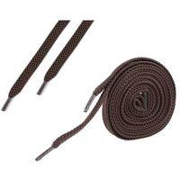 Sznurówki płaskie do butów 7 mm - brązowe - brązowy marki Omniskus