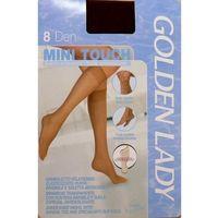 Podkolanówki Golden Lady Mini Touch 8 den uniwersalny, brązowy/thar, Golden Lady, kolor brązowy