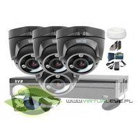 Zestaw do monitoringu: BCS-XVR0401+ 4x Kamera BCS-DMQE3200IR3+ Dysk 1TB + Akcesoria