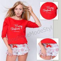 piżama damska gifti świąteczny z szortami marki Sensis