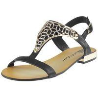 Sandały Nessi 17185 - Czarne 3, kolor czarny