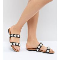 2 strap slip on sandal - black marki Monki