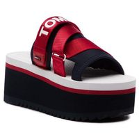 Klapki - sporty neoprene flatform mule en0en00465 rwb 020 marki Tommy jeans