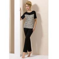 Elegancka damska piżama Lady Black, kolor czarny