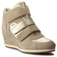 Sneakersy - d illusion d d7254d 022bv ch62l lt taupe/lt gold, Geox