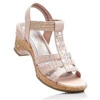 Sandały marco tozzi jasnoróżowy marki Bonprix