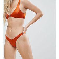 Free Society High Leg Bikini Bottom - Copper, bikini