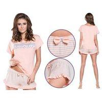 Piżama damska WIKTORIA: łososiowy, kolor różowy