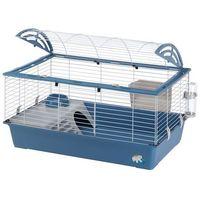 Ferplast casa 100 klatka dla małych zwierząt - niebieska, dł. x szer. x wys.: 96 x 57 x 56 cm