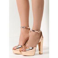 Szampańskie Sandały Better Off, kolor brązowy