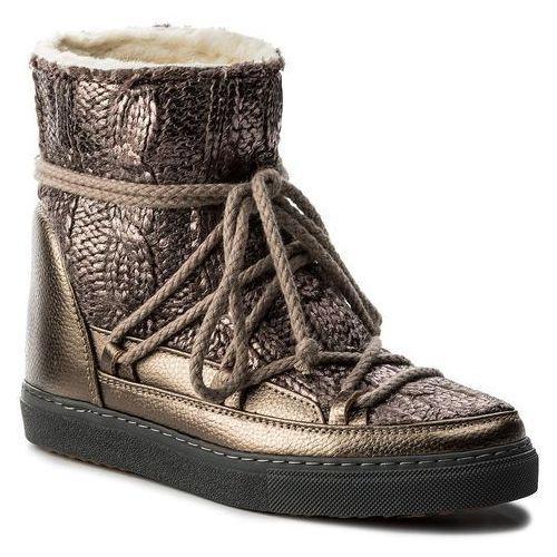 Buty INUIKII - Sneaker Wedge Galway 30105 Gold, kolor brązowy