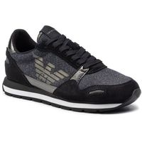 Sneakersy EMPORIO ARMANI - X3X058 XL617 E593 Black/Gunmetal