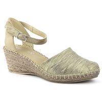 Sandały damskie Venezia 8103 ZŁOTY, kolor żółty