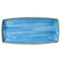 Półmisek prostokątny 295 x 150 mm, niebieski | CHURCHILL, Stonecast Cornflower Blue