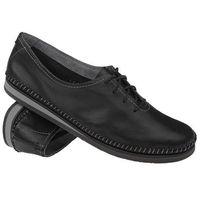Mokasyny sznurowane buty 6870 czarne - czarny marki Simen