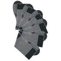 Skarpetki w paski H.I.S (6 par) bonprix czarny + biel wełny