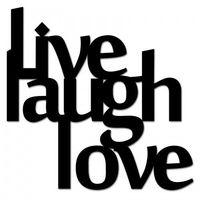 Napis na ścianę LIVE LAUGH LOVE czarny LLL1-1