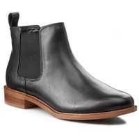 Clarks Sztyblety - taylor shine 261119654 black leather