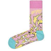Happy Socks Don't Panic Skarpetki Zielony Różowy Żółty 36-40