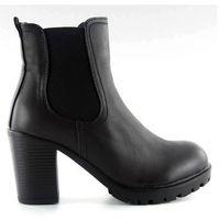 Botki sztyblety na obcasie 946-ga black marki Buty obuwie damskie