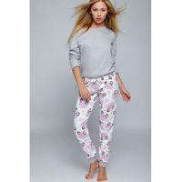 Sensis Piżama damska model happy winter grey/pink
