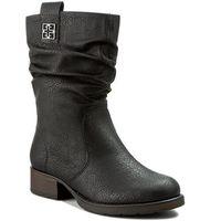 Botki RIEKER - Z9583-00 Black, kolor czarny