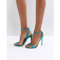 glitter barely there heeled sandals - green, River island
