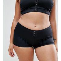 ASOS CURVE Mix and Match Shortie Bikini Bottom with Hook and Eye - Black, bikini