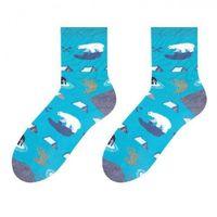 Skarpety damskie 078 niedźwiedź polarny niebieskie marki More