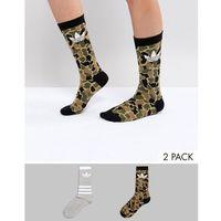 2 pack printed socks - multi marki Adidas originals